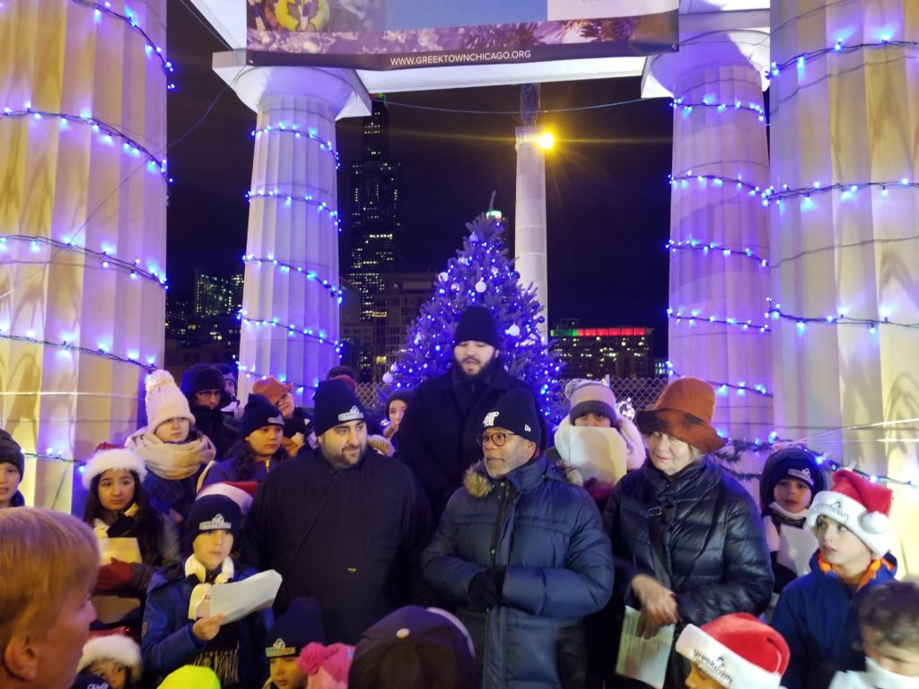 3rd Annual Greektown Christmas Tree Lighting Ceremony – December 8, 2018 – 5 PM